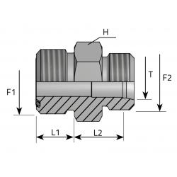 GZ ORFS/GZ Metryczny Złącze proste