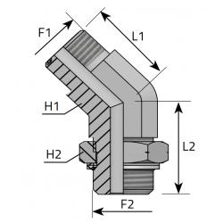 GZ ORFS/GZ Metryczny Przyłącze kątowe 45°
