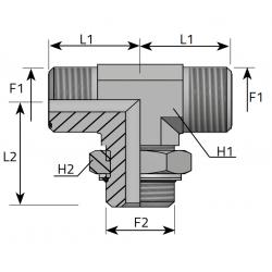 Trójnik symetryczny z nakrętką ORFS-BSPP TMO MOG P
