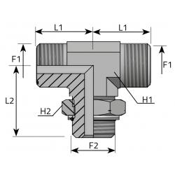 Trójnik symetryczny z nakrętką ORFS-Metryczny TMO MOM R P