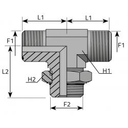 Trójnik symetryczny z nakrętką ORFS-UNF TMO MOU P