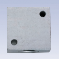 Kostka aluminiowa 4 portowa VB