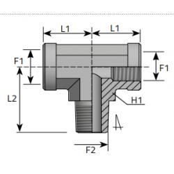 GW NPT/GW NPT/GZ NPT Trójnik symetryczny