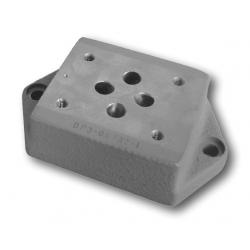 Pojedyńczy blok płytowy gwintowany DP - 04 (06, 10)