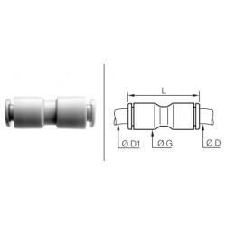 Złącze wtykowe proste Calowe
