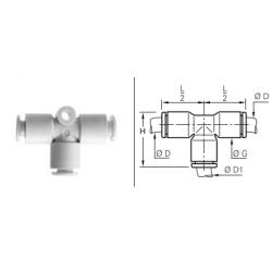 Złącze wtykowe TPM trójnikowe redukcyjne Metryczne