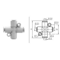 Złącze wtykowe CPM czwórnikowe redukcyjne Metryczne