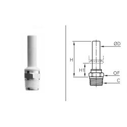 Przyłącze proste z rurą z gwintem zewnętrznym BSPT