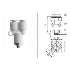 Rozgałęźnik wtykowy YY/GZ BSPP O-RING