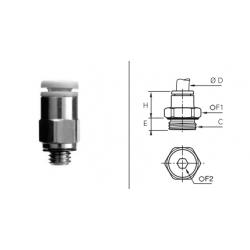 Przyłącze wtykowe z gwintem zewnętrznym BSPP i Metryczny O-RING