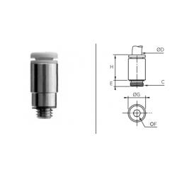 Przyłącze proste z gwintem zewnętrznym Metrycznym O-RING