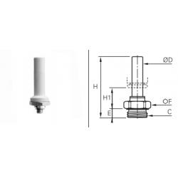 Przyłącze proste z rurą z gwintem zewnętrznym BSPP O-RING