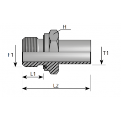 GZ z uszczelką BSPP/Spaw lub pod nakrętkę uszczelka Przyłącze proste redukcyjne