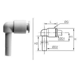 Łącznik rurowo-wtykowy kątowy Calowy LRWCP