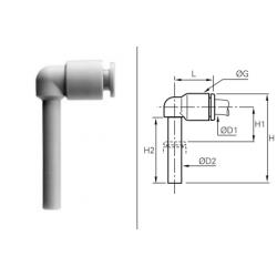 Łącznik rurowo-wtykowy kątowy Long LRWLP
