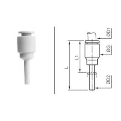 Łącznik wtykowo-rurowy redukcyjny z większym wtykiem Metryczny LRWRP