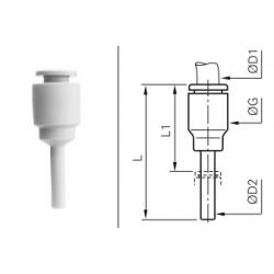 Łącznik wtykowo-rurowy redukcyjny z większym wtykiem Calowy LRWRCP