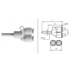 Łącznik rurowo-wtykowy LRWYP