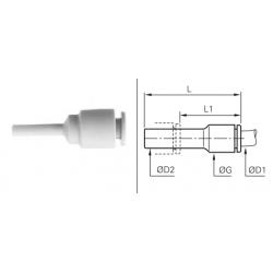 Łącznik wtykowo-rurowy redukcyjny Calowy LWRRCP