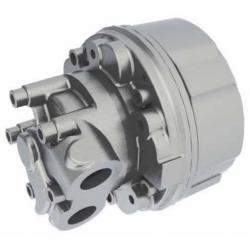 Silnik hydrauliczny z tłokiem radialnym o stałym momencie obrotowym i stałej wydajności GM05