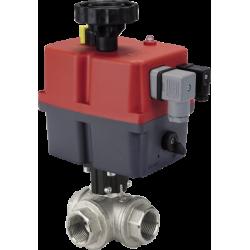 Zawór kulowy serii TRIFLUX z siłownikiem elektrycznym