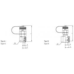 Złącze pomiarowe proste GZ 16x2,0 / nakrętka GW ze stożkiem 24°