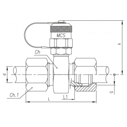 Trójnik pomiarowy GZ 16x2,0 / GZ metryczny ze stożkiem 24°