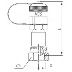 Złącze pomiarowe proste GZ 16x2,0 / nakrętka GW calowy ze stożkiem 60°