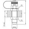 Złącze pomiarowe proste GZ 16x2,0 / GZ grodziowy 16x2,0