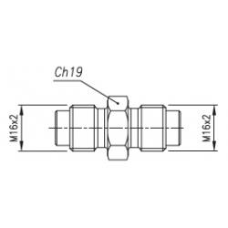 Złącze pomiarowe proste GZ 16x2,0 / GZ 16x2,0