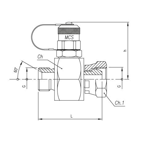 Trójnik pomiarowy GZ 16x2,0 / GZ GW calowy ze stożkiem 60°